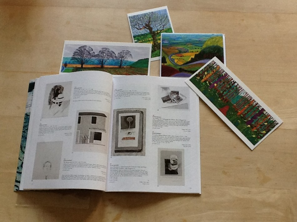 Hockney Postcards with Christies catalogue