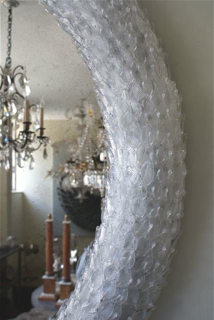 Detail of Glass Leaf Mirror